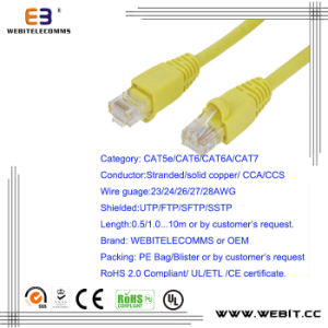 Cat5e/CAT6/CAT6A/ Cat7 UTP U/UTP Patch Cord/Patch Cable pictures & photos
