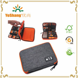 Double Layer Digital Storage Bag Waterproof Data Line Package Elastic Portable Electronic Storage Case pictures & photos