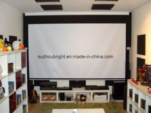Wall Mount Projector Screen Home Cinema Projection Screen pictures & photos