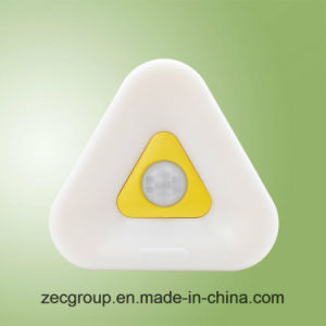 Single Color Light Triangle Night Light with Sensor