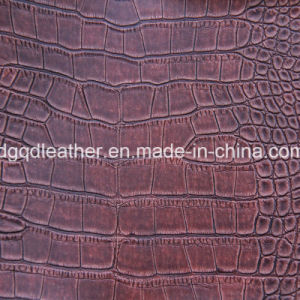Crocodile Pattern Semi-PU Furniture Leather (QDL-FS006) pictures & photos