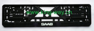 European Plastic License Plate Frame with Raisedlogo