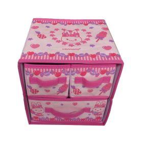 Storage Box with 3 Drawer--Rabbit Design