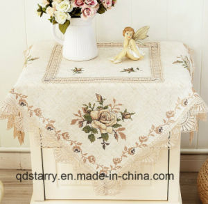 Hemstitch Linen Table Cover 2016 New Design pictures & photos