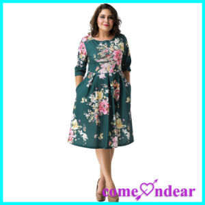 Dropshipping Low MOQ Can OEM Plus Size Sexy Party Women Fashion Ladies Dress pictures & photos