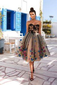 Short Prom Party Cocktail Dress A-Line Strapless Homecoming Dresses Y1028 pictures & photos