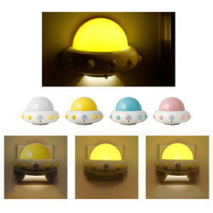 UFO IR Motion Active Monitor Plug Night Light Rechargeable Remote Control Lamp pictures & photos