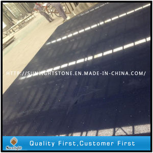 Artificial Engineered Black Quartz for Countertops Slabs and Tiles pictures & photos