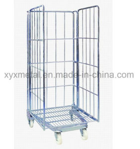 3 Sides Nestable Folding a Frame Movable Wire Mesh Container pictures & photos