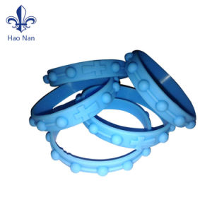 Custom Colorful Printed Silicone Wristband Rubber Bracelet pictures & photos