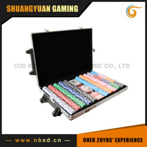 Poker Chip Set in Trolly Case for 1000PCS Poker Chips pictures & photos