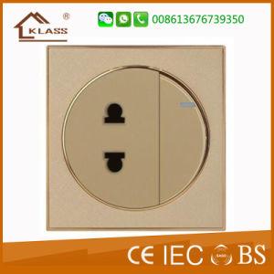 Champagne Gold 3 Gang 1 Way Wall Switch pictures & photos