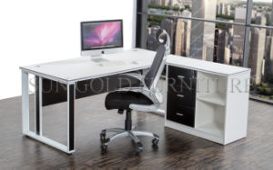 New Design Wooden Top Steel Frame Modern Desk (SZ-OD196) pictures & photos