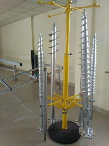 Hot Dipped Galvanized Ground Screw Pole Anchor, Earth Screws 4-40 pictures & photos
