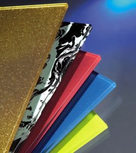 Patterned/Decorative Colored Tempered Family Glass (JINBO) pictures & photos