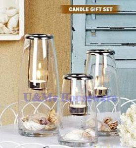 Glass Candle Holder / Glassware (HLA055, HLA056. HLA057, HLA058)