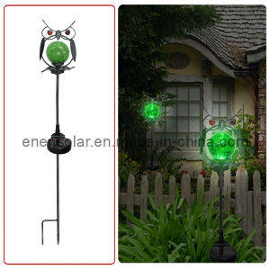 Solar Metal Owl Light (HL040-4)