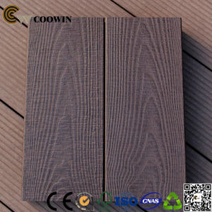 Outdoor WPC Solid 3D Embossed Wood Plastic Composite Decking pictures & photos