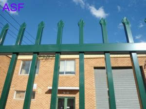 Powder Coated Pregalvanized Spear Top Steel Fence pictures & photos