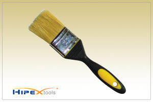 Professional Pure White Bristle Paint Brush with TPR Handle pictures & photos