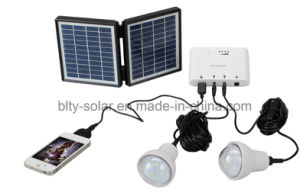 Solar Power System with LED Light and USD Output pictures & photos