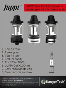 Best Flavor Kangertech Juppi Tank Clearomizer 70W pictures & photos
