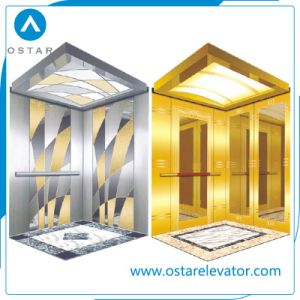 450~1000kg Machine Roomless Lift Passenger Elevator with Mirror Etching Cabin pictures & photos
