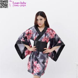 2017 New Sexy Lady Night Wear Kimono Robe Women L28208-1 pictures & photos