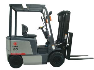 2000kg Electric Low Noise Forklift Truck Factory Warehouse Lifting Equipment pictures & photos