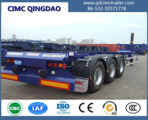 40FT Cimc Dump Skeleton Chassis Semi Truck Trailer pictures & photos