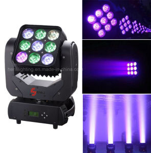9*10W RGBW 4in1 LED Moving Head Matrix (HL-001BM) pictures & photos