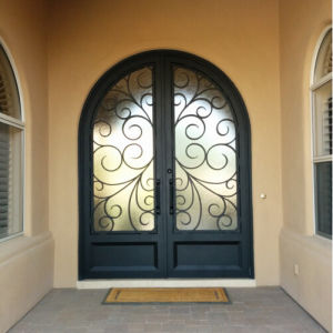 Factory Direct Round Top Iron Entry Door (UID-D061) pictures & photos