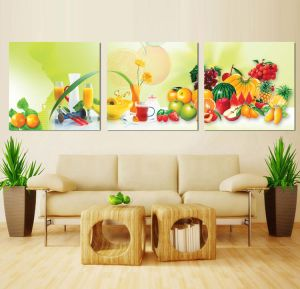 3 Panel Wall Art Oil Painting Fruit Painting Home Decoration Canvas Prints Pictures for Living Room Mc-254 pictures & photos