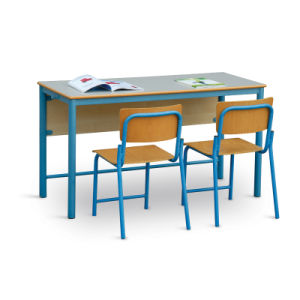 Double Student Desk and Chair pictures & photos
