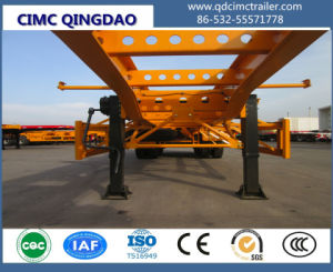 Cimc Four Axles 45FT Straight Beam Frame Skeleton Semi Trailer Chassis pictures & photos