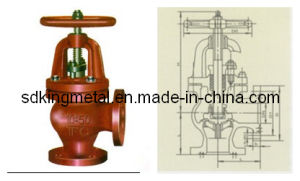 Shipbuilding Cast Iron 10k Angle Globe Valves pictures & photos