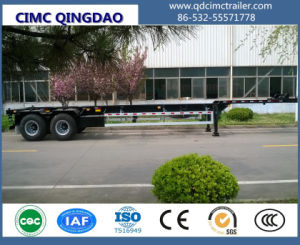Cimc Tri Axles Double Dolly Skeleton 20FT Container Chassis Trailer pictures & photos