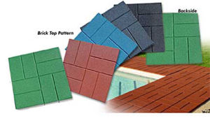 Brick Surface Rubber Tile for Walkside