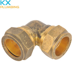 Compression Fitting Elbow 90deg 22mm (KX-BF019) pictures & photos