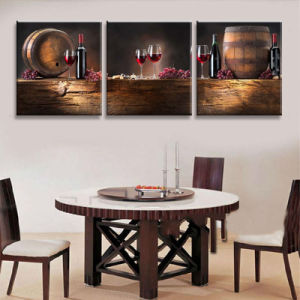 3 Piece Modern Wall Art Printed Painting Red Wine Painting Room Decor Framed Art Picture Painted on Canvas Home Decoration Mc-247 pictures & photos