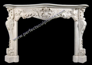 Marble Fireplace Mantel for Stone Fireplace Mantles (QY-LS372) pictures & photos
