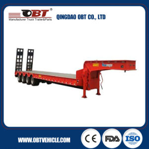 China Hot Sale Tri-Axle Heavy Duty Semi Trailer Truck Low Bed Truck Trailer pictures & photos