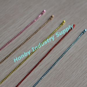 1.5mm Bright Colors Fancy Facet Ball Chain Necklace