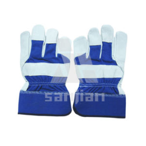 Safe Industrial Leather Hand Working Gloves pictures & photos