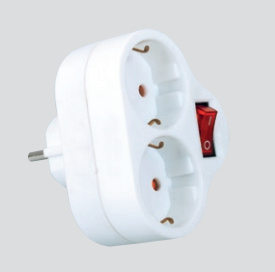 Power Adaptor with Switch (Sweden, Denmark, Norway, Finland) pictures & photos