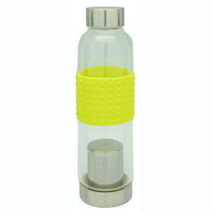 Single Wall Glass Tea Bottle with Strainer pictures & photos