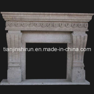 Stone Fireplace Mantel (FRP512) pictures & photos
