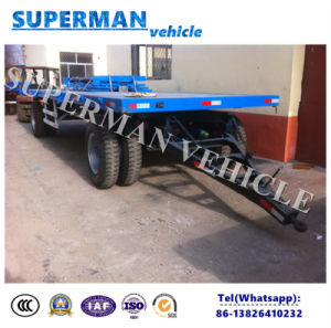 20t Agriculture Use Cargo Flatbed Full Drawbar Trailer pictures & photos