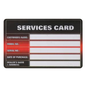 Plastic Service Card
