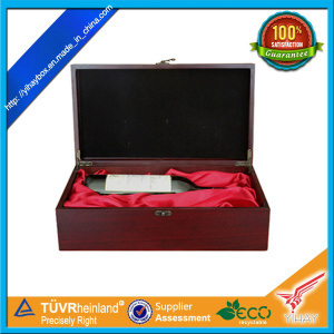 Red MDF Wood Single Wine Glass Case Gift Packaging Box (WB03)